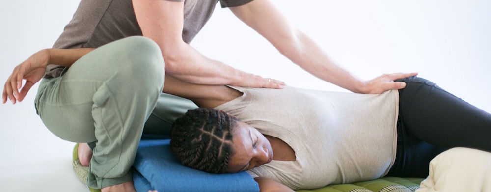 side lying thai massage posture
