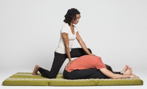 thai massage forward fold posture