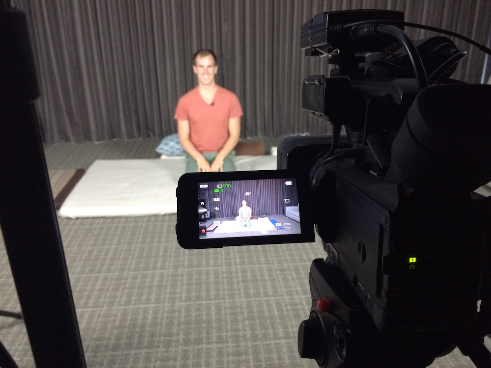 behind the scenes: video shoot for online training