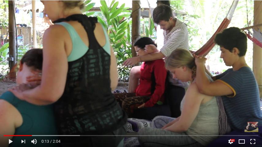thai massage - seated technique compilation