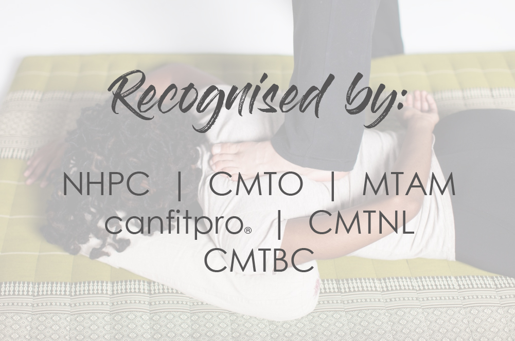 recognized by the CMTO NHPC CMTBC MTAM CMTNL and canfitpro